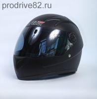 Шлем интегральный черный матовый вид 2