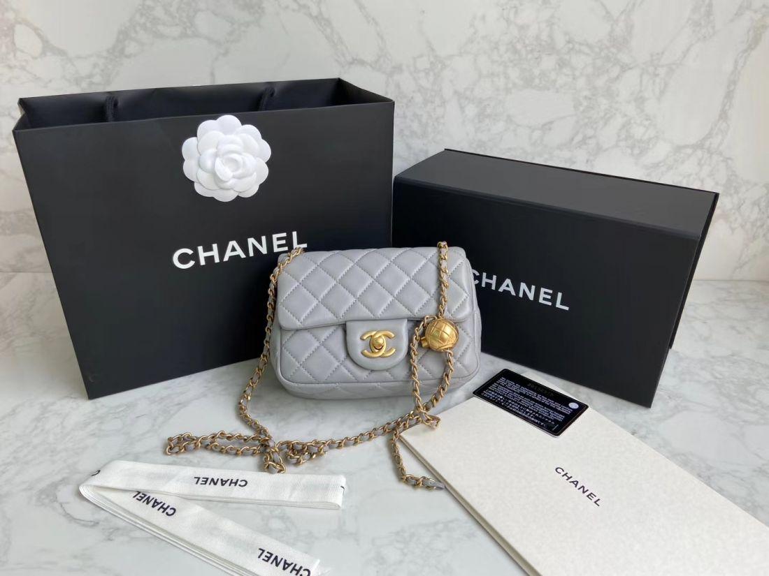 CHANEL Shoulder Flap Bag 18 cm