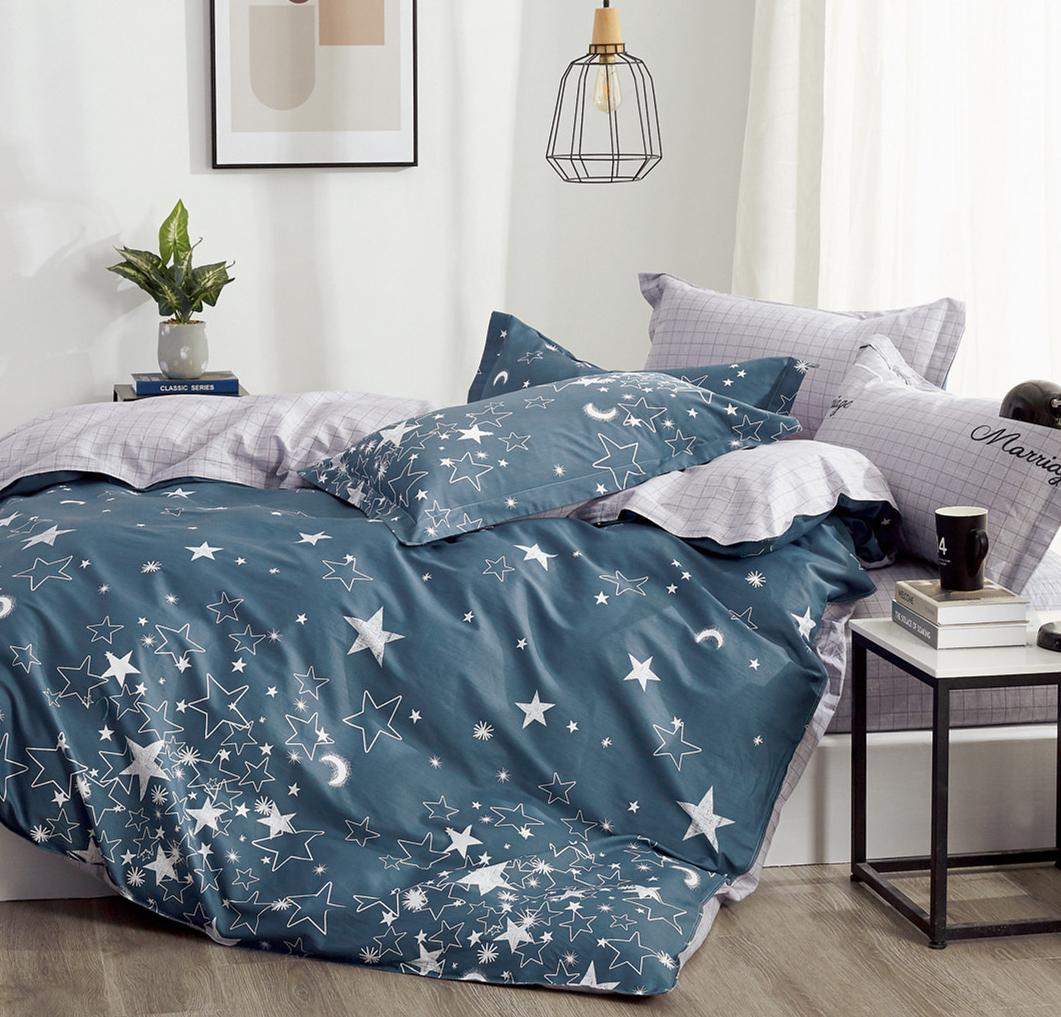 Детское постельное белье Звезды на синем