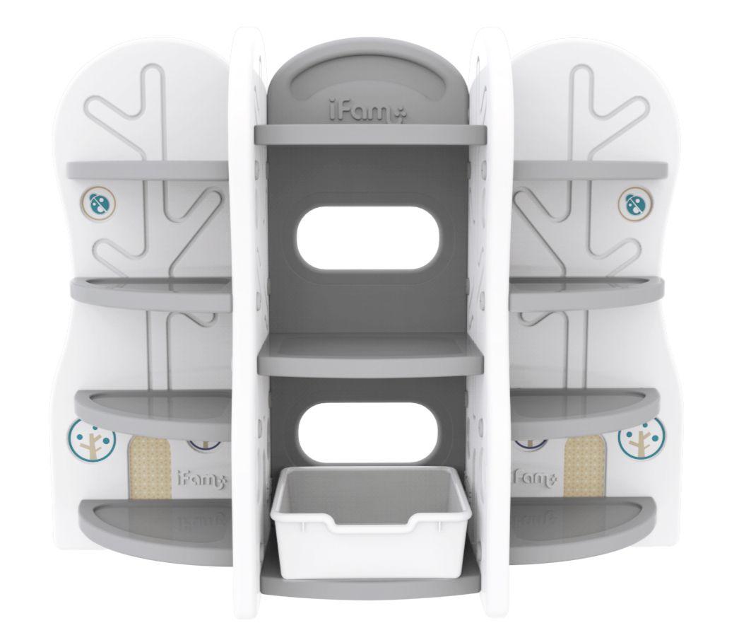 Стеллаж для игрушек  DesignToy-10 серый