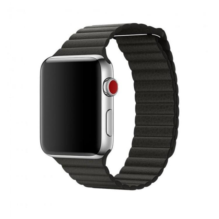 Ремешок Apple Watch 42/44 mm магнитный (кожа)