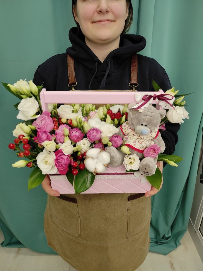 """Ящик с цветами """" Маруся """""""
