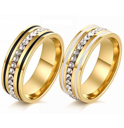 Парные кольца с природными цирконами