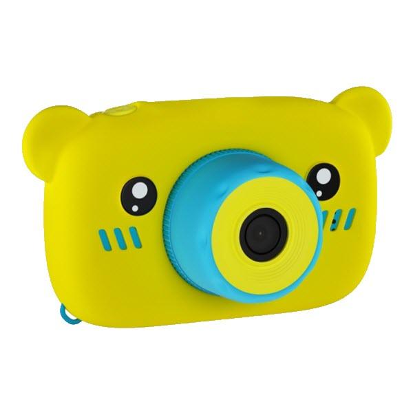 Детский цифровой фотоаппарат с селфи камерой. Мишка. Цвет: Желтый