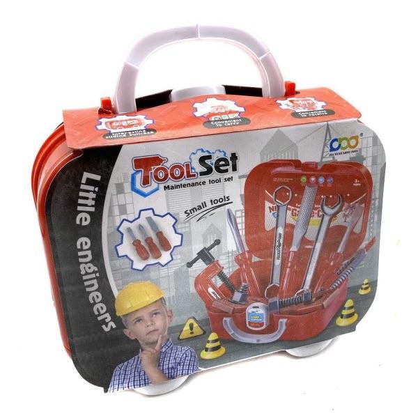 Игровой набор инструментов в кейсе Little Engineers, 14 предметов
