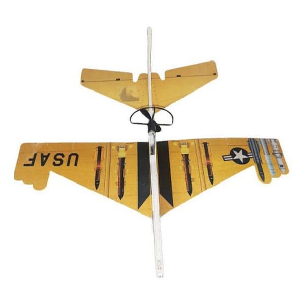 Сборный самолет-истребитель с автономным мотором, Цвет: Жёлтый