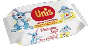 ТМ «Unis» с крышкой 72 для детей без запаха