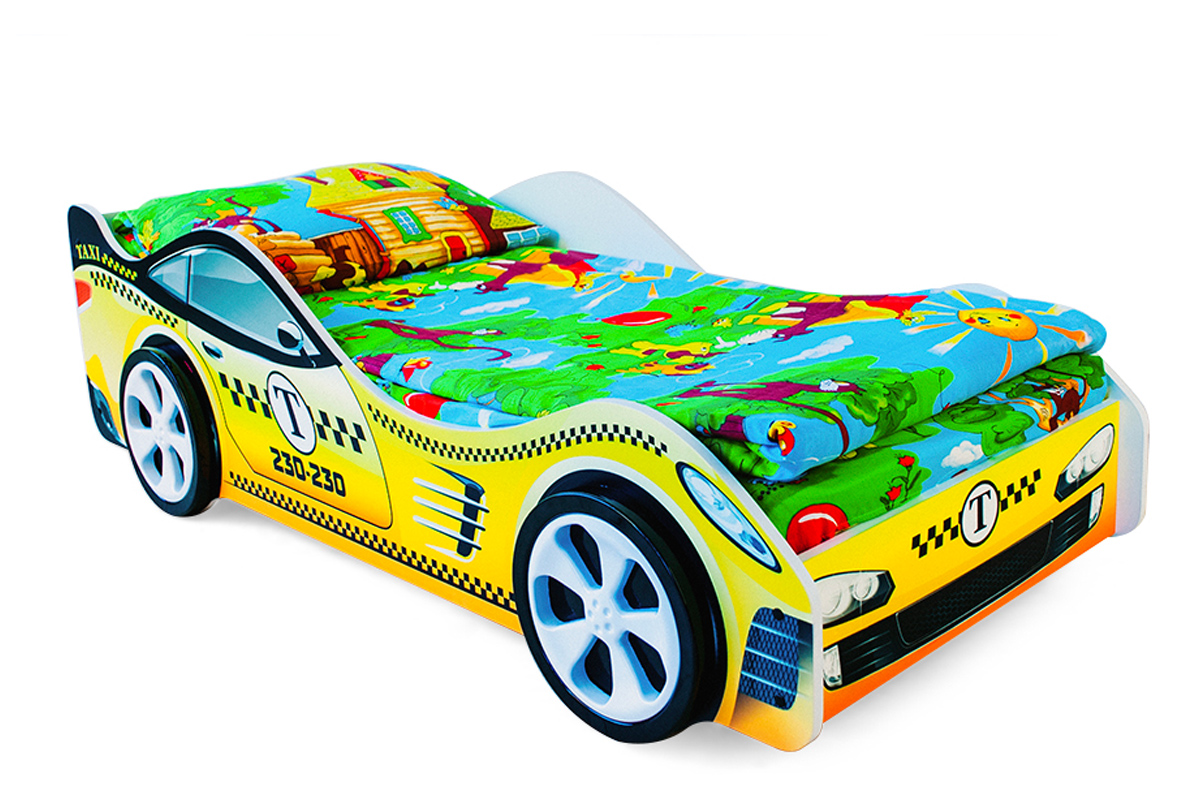 Детская кровать-машина Такси