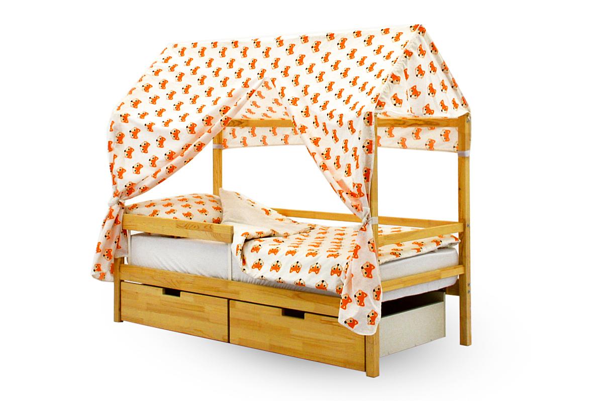 Крыша текстильная для кровати-домика Svogen лисички