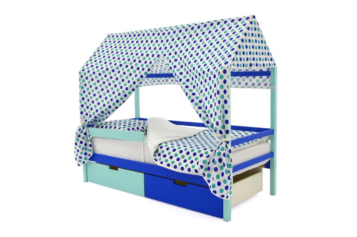 Крыша текстильная для кровати-домика Svogen круги