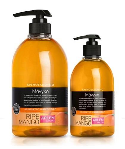 Жидкое мыло для рук с ароматом Манго (флакон с дозатором), 1000 мл