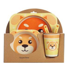 Набор детской посуды из бамбука Bamboo Ware Kids Set , 5 предметов (щенок)