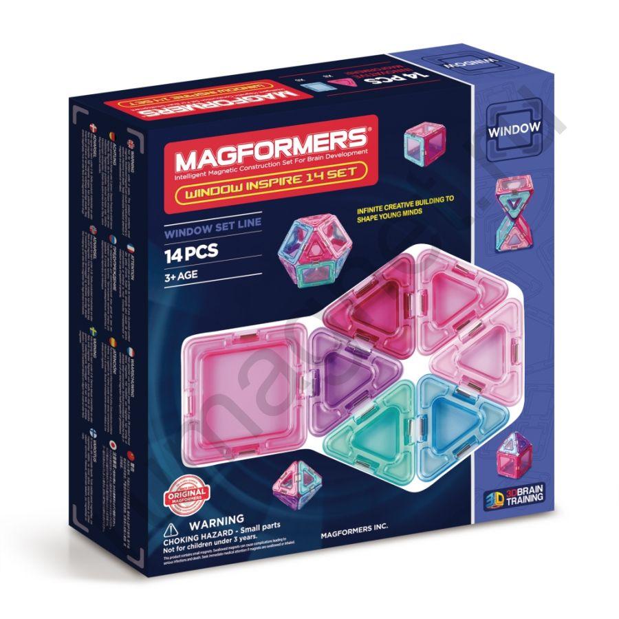 Магнитный конструктор MAGFORMERS 714003 Window Inspire 14 set