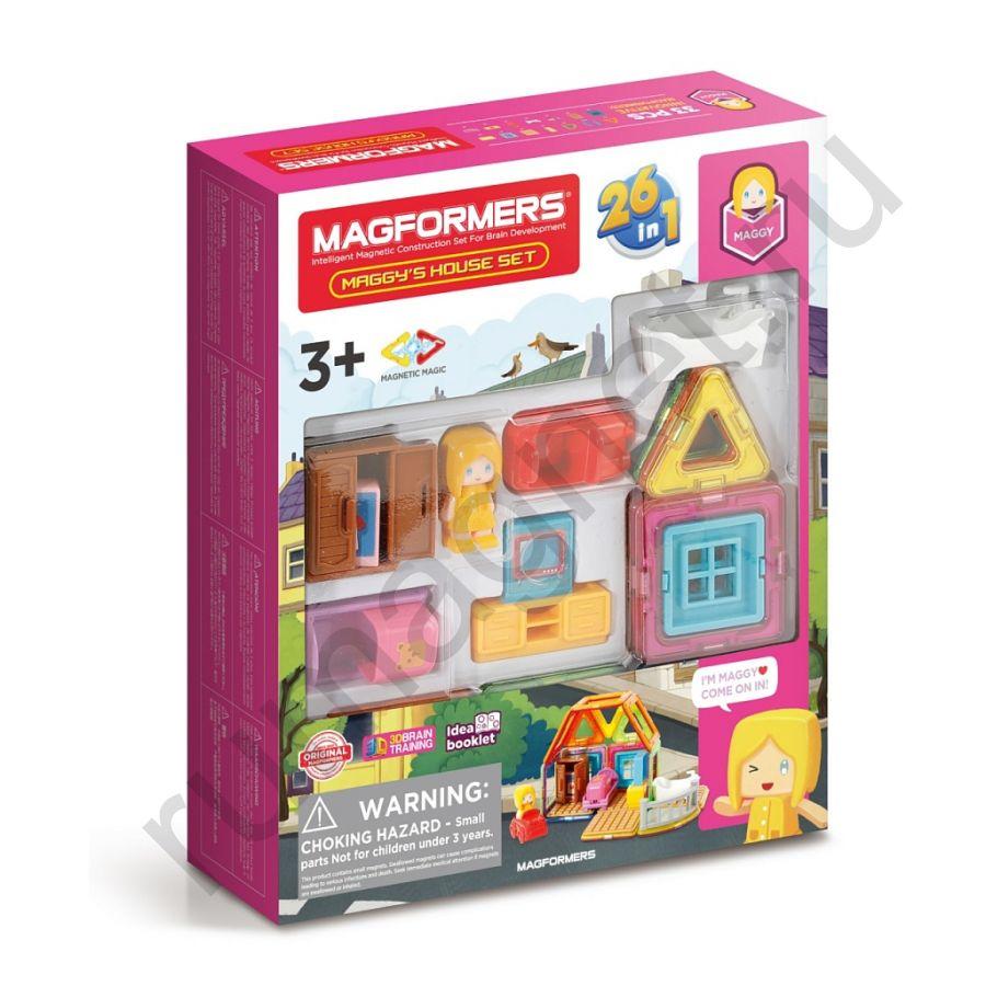 Магнитный конструктор MAGFORMERS 705009 Maggy's House Set