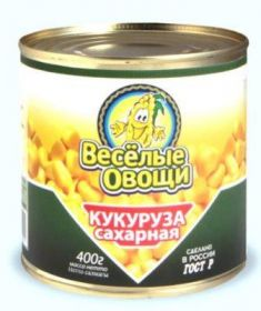 КУКУРУЗА САХАРНАЯ ВЕСЕЛЫЕ ОВОЩИ КОНСЕРВЫ (РОССИЯ)