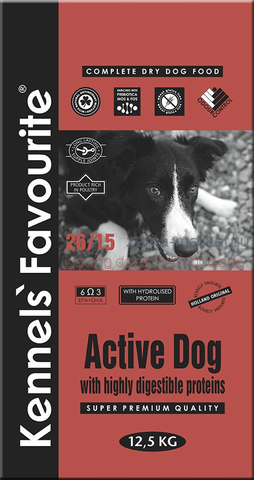 Kennels` Favourite Active Dog 4 кг, 20 кг.
