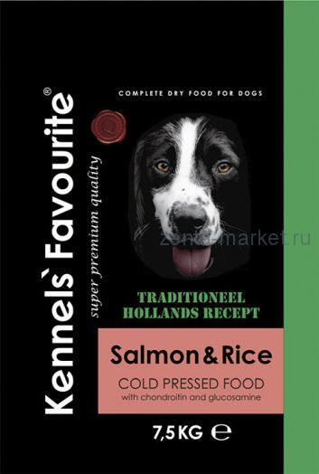 Kennels` Favourite Cold Pressed Salmon & Rice 7,5 кг.