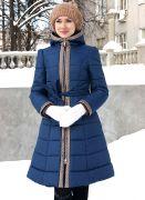 темно-синее зимнее пальто