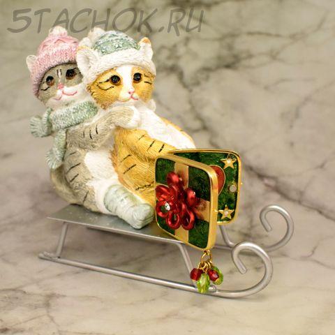 """Брошь-трансформер """"Рождественская открытка"""" (KC США)"""