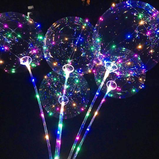 Светящиеся led шары BOBO, набор из 5 разных шариков
