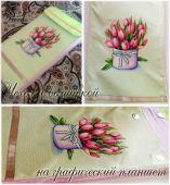 Схема для вышивки крестом Весенний букет. Отшив.
