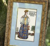 "Cross stitch pattern ""Vologda girl""."