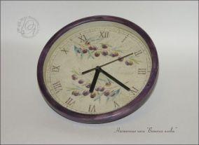 """Настенные часы """"Веточки оливы"""""""