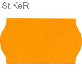 419602 Этикет-лента «Эконом» оранжевая, волна, 22х12 мм (1000 шт./рул., 10 рул./уп.)