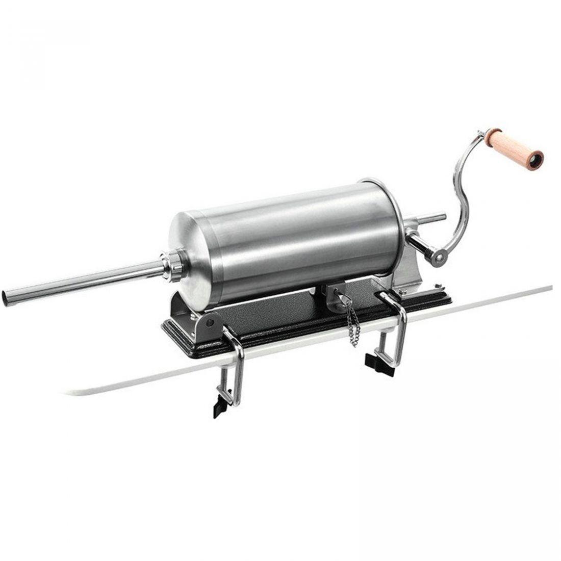 Шприц колбасный горизонтальный на 5, 5 кг с металлическими насадками