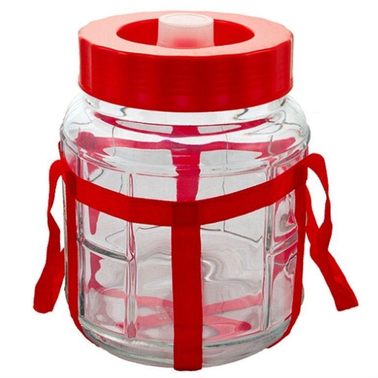 Бутыль стеклянная с гидрозатвором