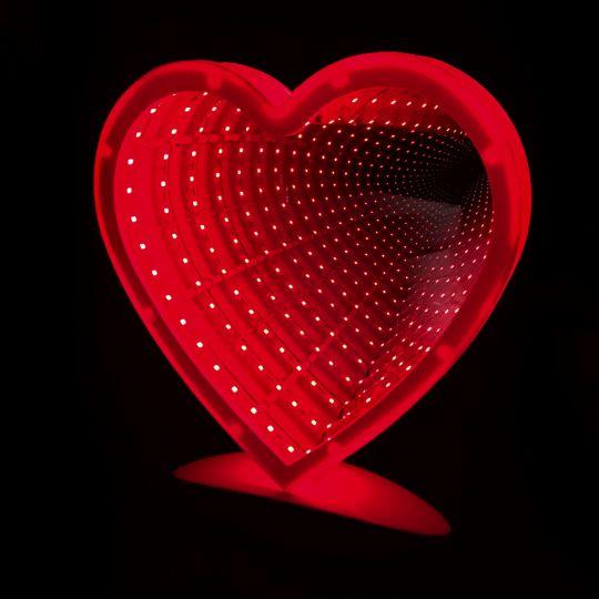 Зеркальный ночник с эффектом бесконечности (сердце)