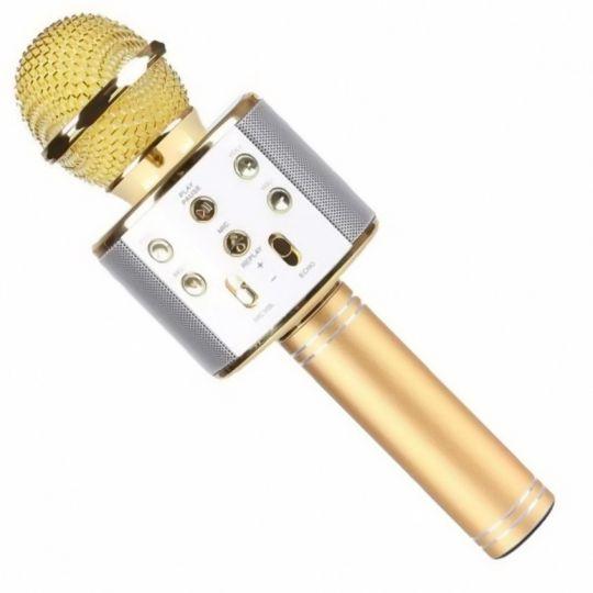 Караоке микрофон WS-858, золотой