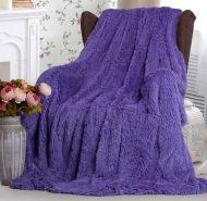 """Плед-одеяло с  длинным ворсом """"сирень""""  220х240 см №PL007"""