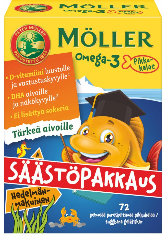 Витамины Moller Omega-3 малина-цитрус (детские) 72шт