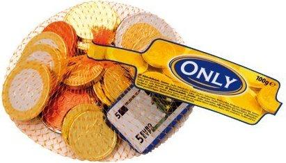 Шоколад Only (деньги и монеты) 100г