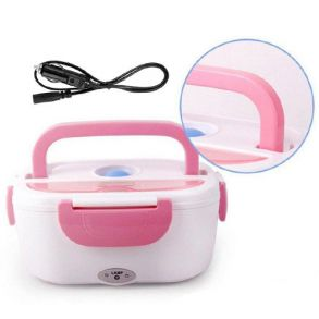 Электрический Ланч-Бокс с подогревом для авто (розовый)