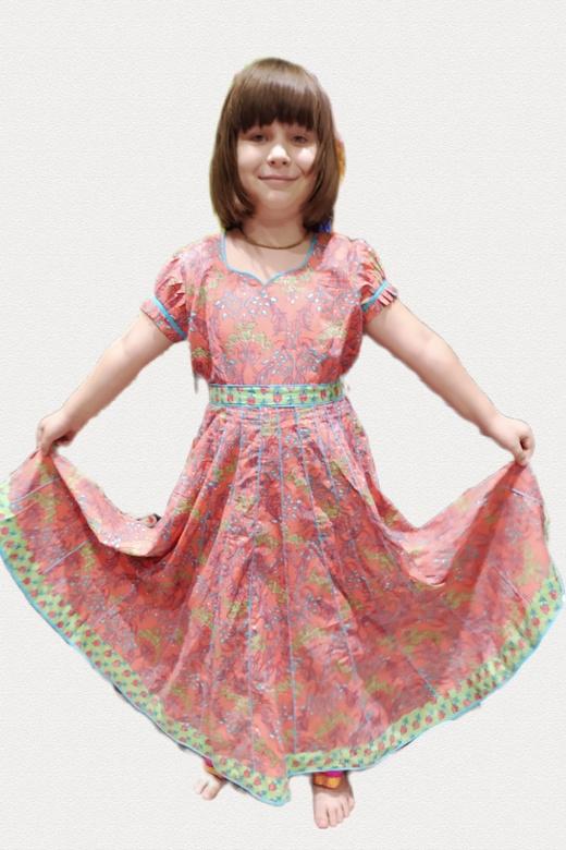 Индийское платье из хлопка для девочки