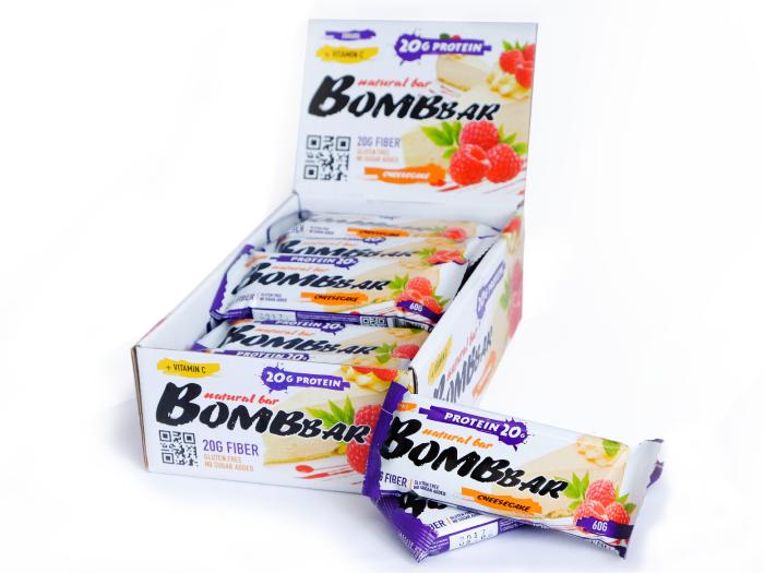 Батончики BombBar (Малиновый чизкейк)