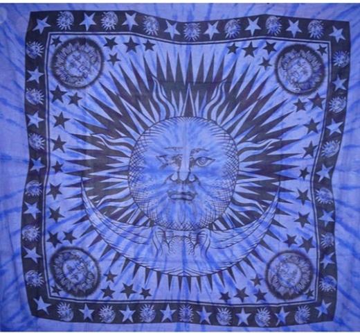 ХЛОПКОВОЕ ПОКРЫВАЛО Хлопок 100%,  Солнце и Луна 2.10*1.40