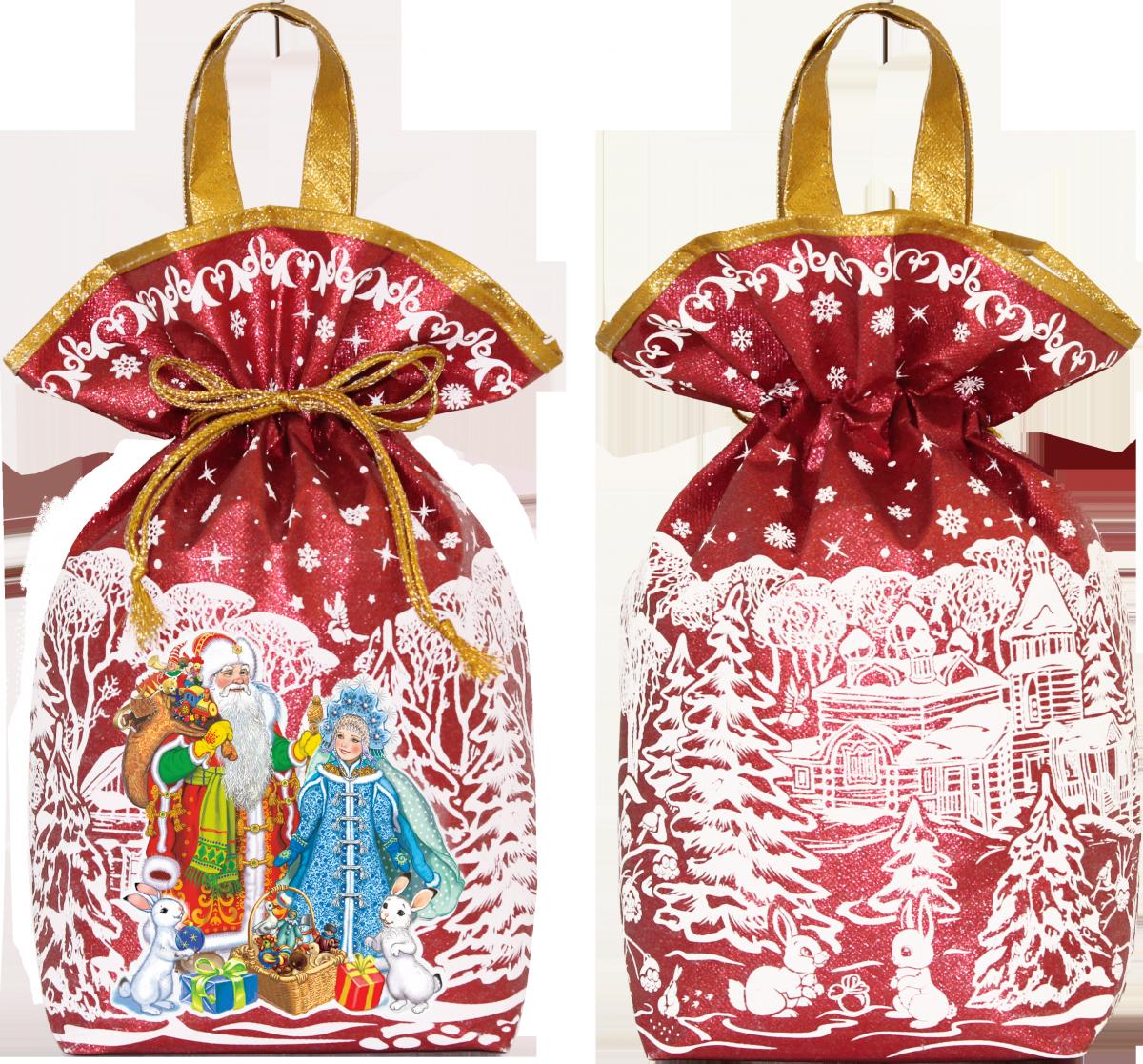 Дед Мороз и Снегурочка (красный) 2000 грамм