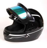 Шлем интеграл Helmo Double Glass Silver фото 8