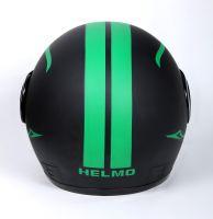 Шлем интеграл Helmo Double Glass Black-Green фото 4