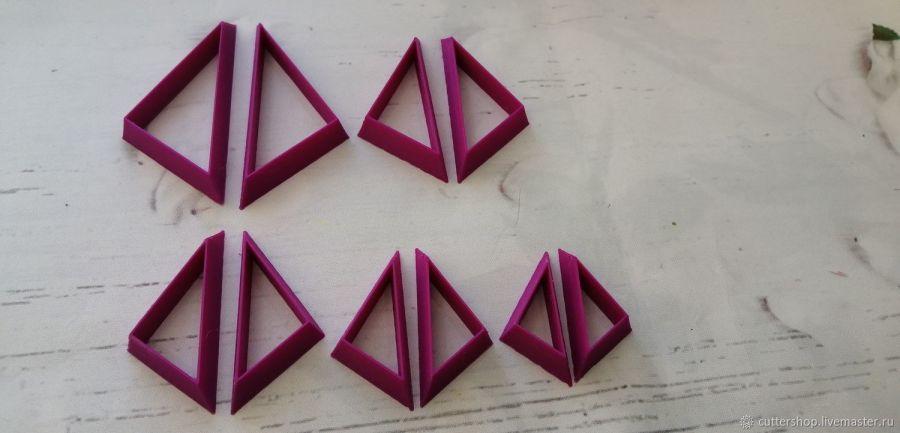 Каттеры для полимерной глины #33 ( зеркальные )