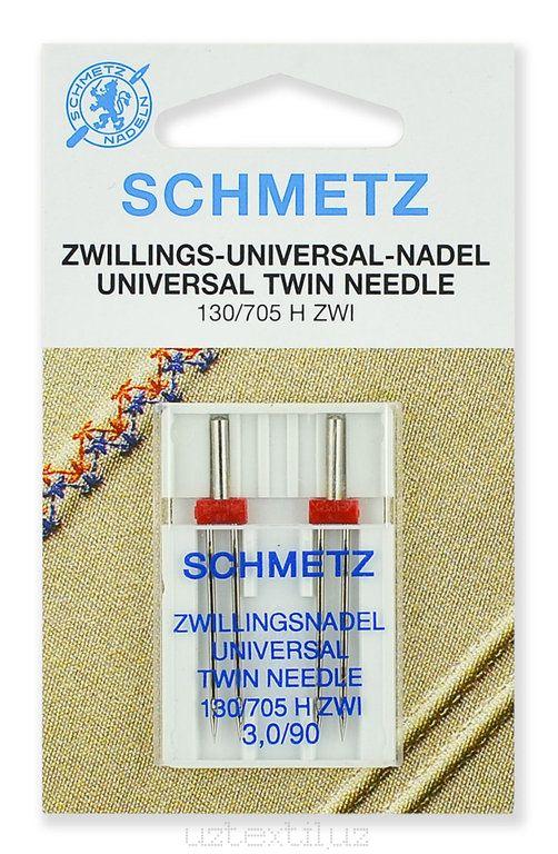 Иглы двойные Schmetz 130/750HS ZWI №90/3.0 - 2 Штуки