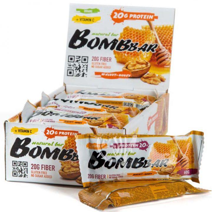Батончики BombBar (Мёд+грецкий орех)