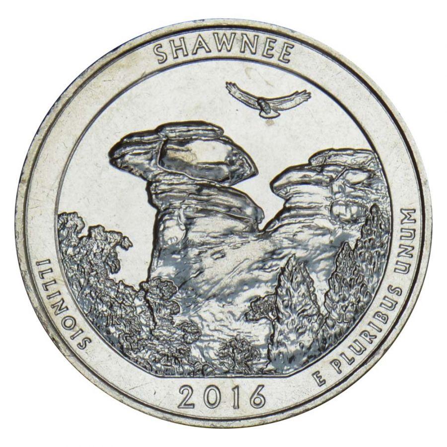 25 центов 2016 США Национальный лес Шоуни S