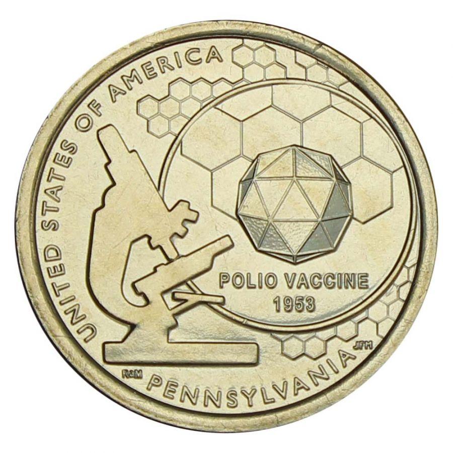 1 доллар 2019 США Вакцина против полиомиелита (Американские инновации)