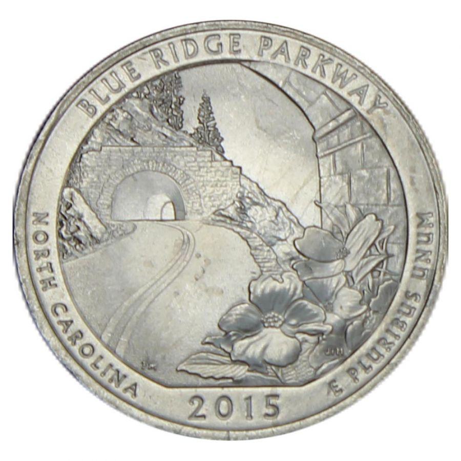 25 центов 2015 США Автомагистраль Блу-Ридж P