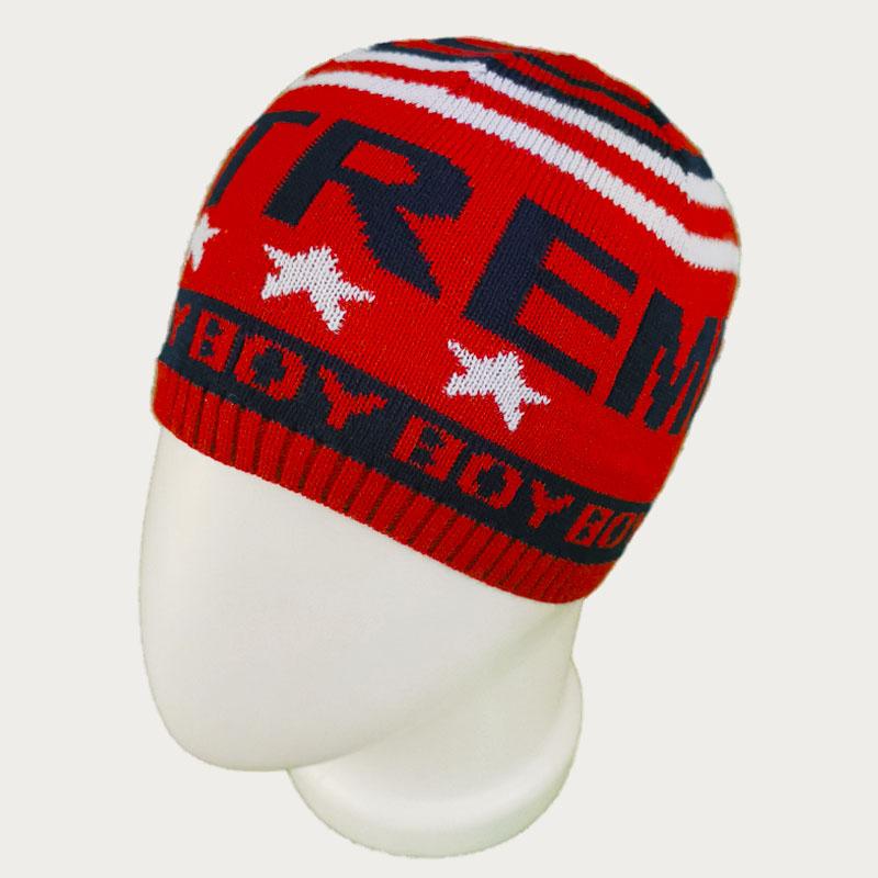 зм1203-23 Шапка колпачок вязаная Extreme boy красная