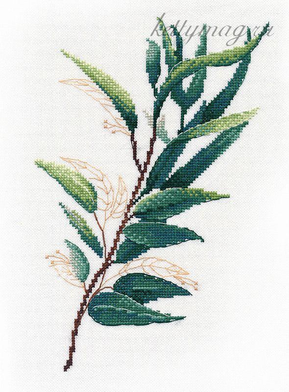 Набор для вышивания ОВЕН арт. 1314 Тропическая зелень №1 20х25 см